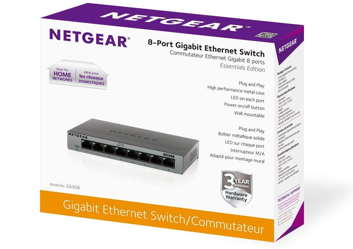 Switch netgear 8 ports gs308